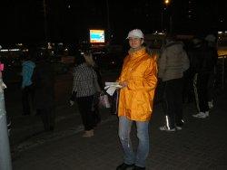 Раздача листовок на улице